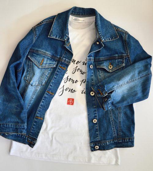 t shirt maglietta-io-sono-io-con-stampata-poesia-calligrafia-maglietta