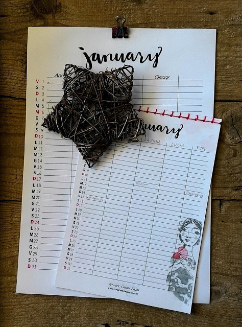 Calendario Appunti Da Stampare.Calendario Appunti Di Carta 2016 Pdf Da Scaricare Anna