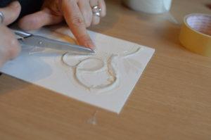 matrici in cartone per stampe a più colori