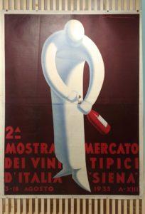 """Federico Seneca, manifesto per la """"2^ Mostra mercato dei vini tipici d'Italia a Siena"""","""