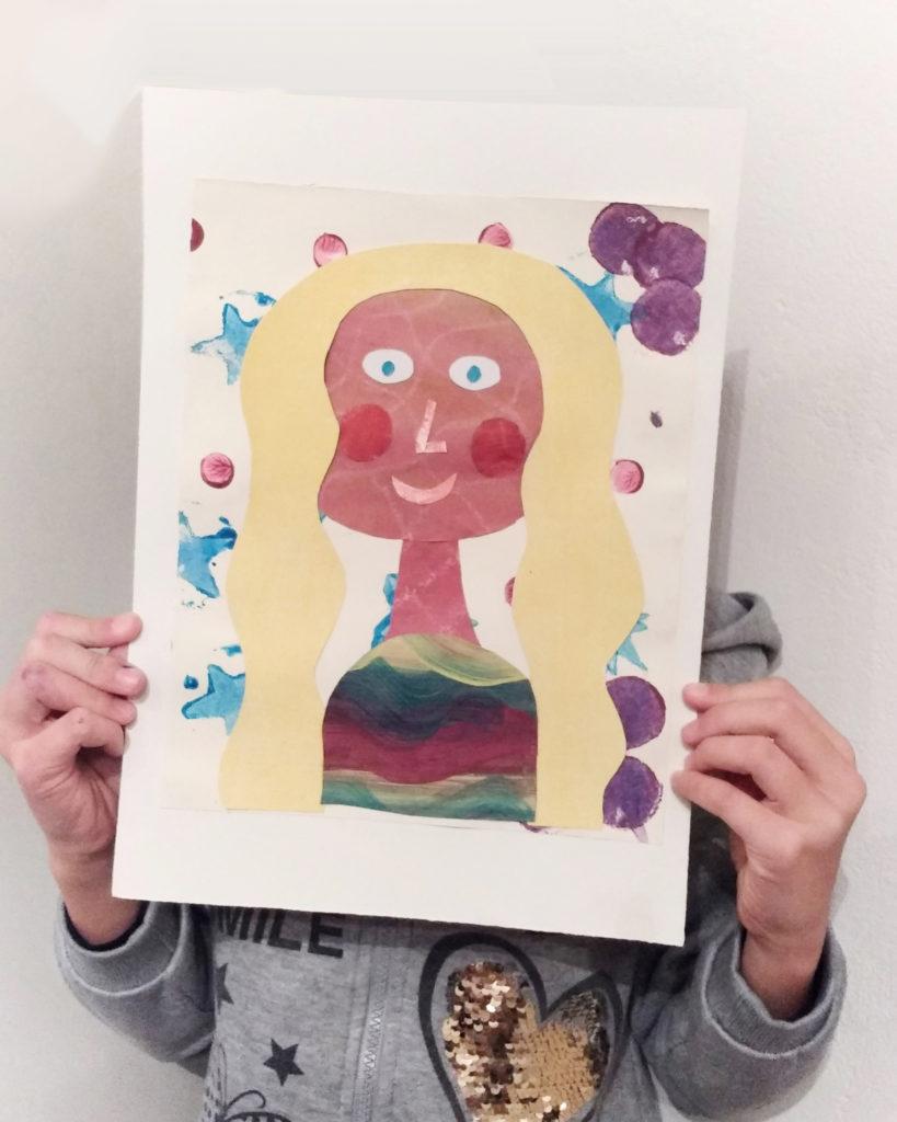 collage-di -una-bambina-di- 8- anni-che-rappresenta-il-suo-ritratto