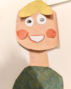 ritratto-a-collage-realizzato da-una-bambina-di 8