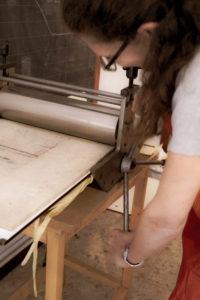 torchio a stella per stampa calcografica